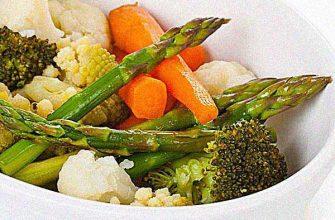 Ассорти из свежих овощей на пару